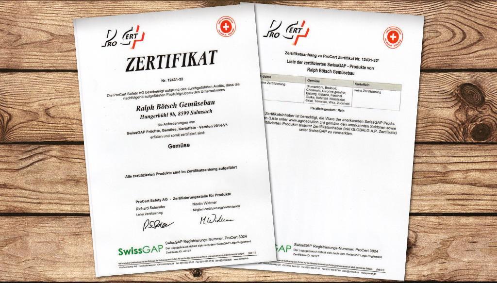 ProCert Zertifikat